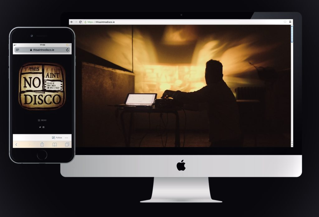 Web design for music documentary series This Ain't No Disco